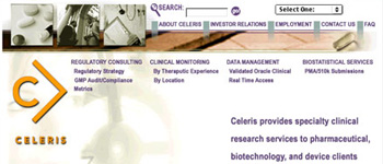 Celeris - Website (Homepage)