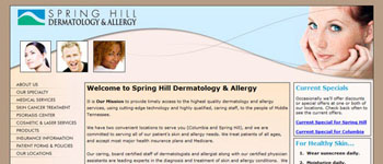 Spring Hill Dermatology & Allergy - Website